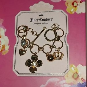 Stunning Juicy Couture Gold tone Charm Bracelet